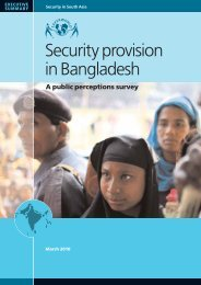 Security provision in Bangladesh - Saferworld