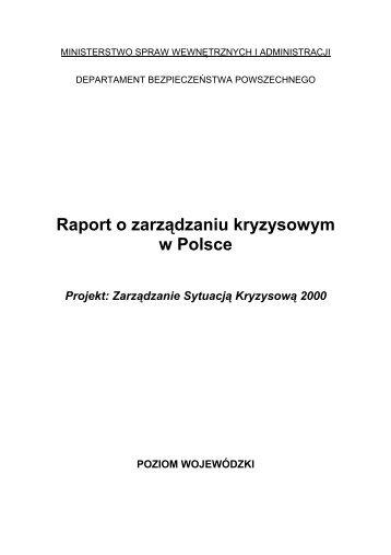 Raport o zarządzaniu kryzysowym w Polsce - Ministerstwo Spraw ...