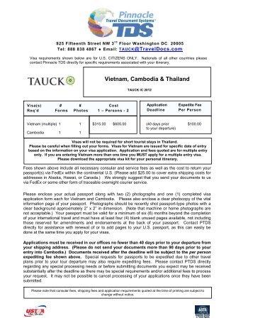 Vietnam, Cambodia & Thailand - Travel Document Systems