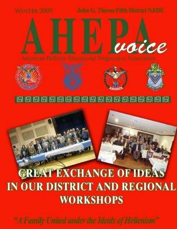 AHEPA Voice Winter 2008 [PDF] - AHEPA District 5
