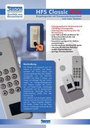 SESAM HFS Classic Plus Produktblatt - Audio-Sicherheit-Elektronik ...