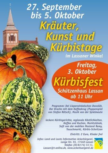Kürbisfest - Ackerbuergerei Lassan