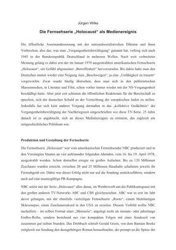Jürgen Wilke - Zeitgeschichte-online