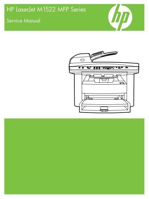 HP LaserJet M1522 service manual - ENWW - Lbrty com