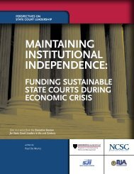 Maintaining institutionaL indePendence: - State Justice Institute