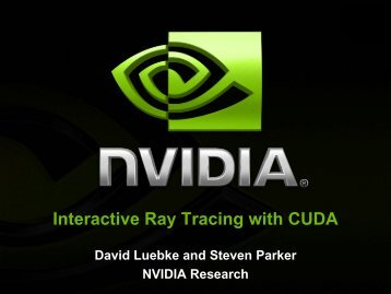 Interactive Ray Tracing with CUDA