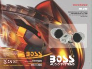 Download manual - Boss Audio Systems