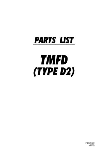 Parts book for Yamato Z610, Z612