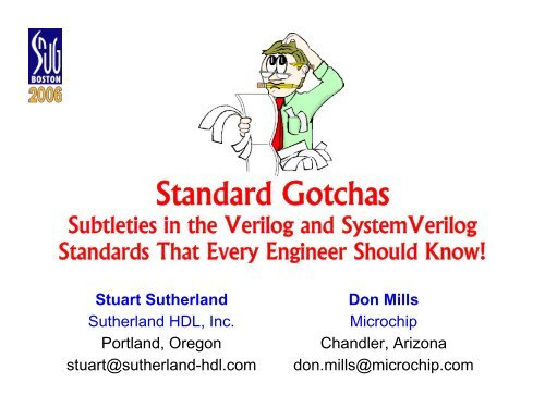 Standard Gotchas: Subleties in the Verilog and