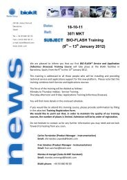 18-10-11 307/ MKT BIO-FLASH Training (9 th – 13th January ... - Biokit