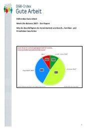 DGB-Index Gute Arbeit Work-Life-Balance 2007 – Der Report Wie ...