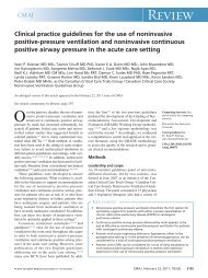 Clinical practice guidelines for the use of noninvasive positive ...