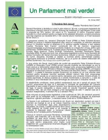 Un Parlament mai verde! - Asociaţia ALMA-RO