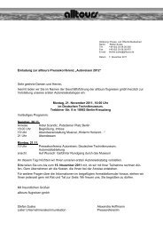 2011-11-07 Einladung PK Autoreisen Sommer 2012 Internet - Alltours