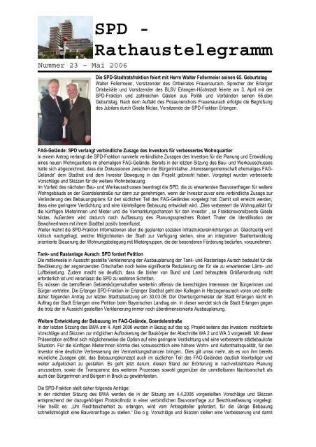 Nummer 23 - Mai06\374 - SPD-Fraktion im Erlanger Stadtrat