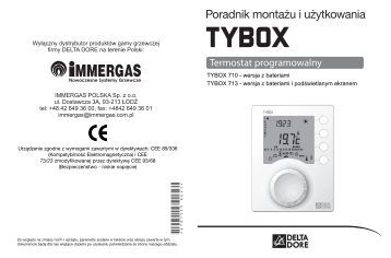 Programowalny termostat pokojowy TYBOX 710 / 713 - Immergas