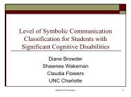 Level of Symbolic Communication Classification for Students with ...