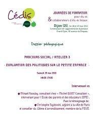 Dossier pédagogique - Cédis Formation