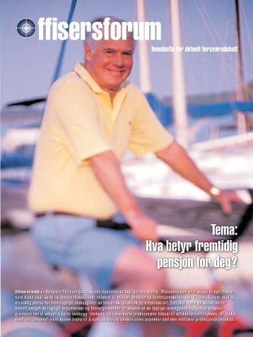 Hva betyr fremtidig pensjon for deg? - Befalets Fellesorganisasjon