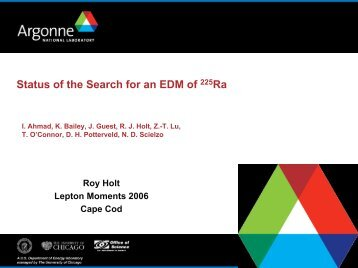 Status of the Search for an EDM of 225Ra - G-2 group