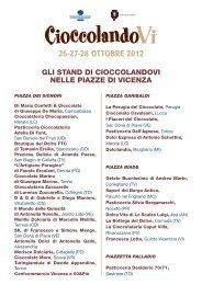 26-27-28 OTTOBRE 2012 - Comune di Vicenza