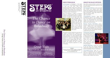 group brochure4_CMYK.qxd - Steps on Broadway