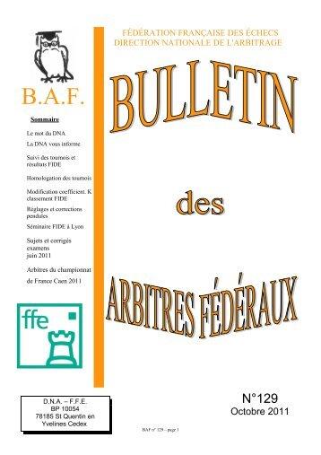 BAF 129 - Fédération Française des Échecs
