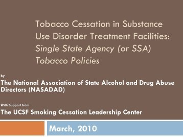 Tobacco Policies - National Association of State Alcohol and Drug ...