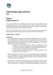 Arbocatalogus LTT, bijlage 5 - Verbond P&K