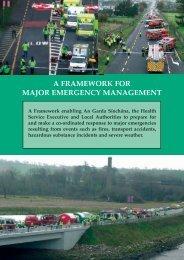 A Framework for Major Emergency Management - The Department ...