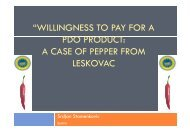 """WILLINGNESS TO PAY FOR A PDO PRODUCT ... - Focus-Balkans"
