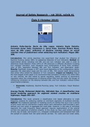 Journal of Safety Research – rok 2007, ročník 38