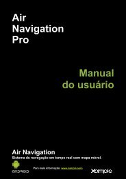 Air Navigation Pro Manual do usuário - Xample