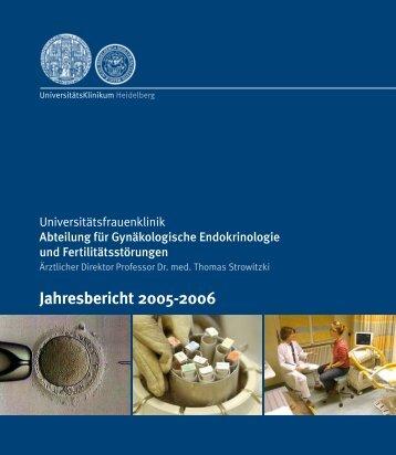 Jahresbericht 2005-2006 - UniversitätsKlinikum Heidelberg