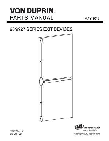 von duprin cx 98 99 installation manual