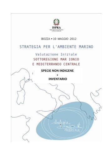 5.6 medcen_Spp non indigene e Inventario.pdf - La strategia marina