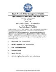 South Florida Water Management District GOVERNING BOARD ...