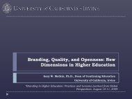 Branding, Quality, and Openness: New Dimensions in Higher ...