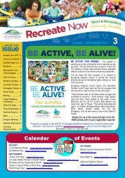 BE ACTIVE, BE ALIVE! - Bundaberg Regional Council