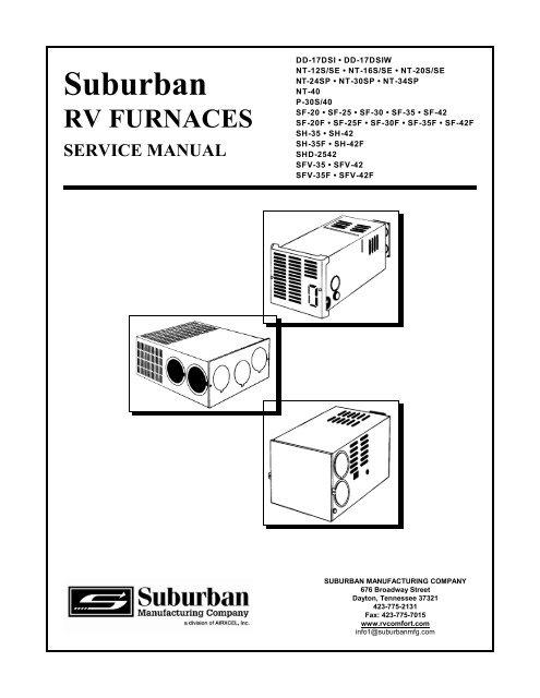 Suburban Furnace Service Manual - BR Wholesale RV & MarineYumpu