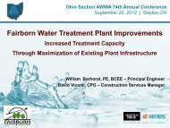 High Rate Filtration and Capacity Improvement at ... - Ohiowater.org