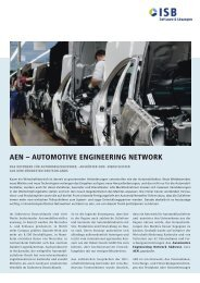 AEN – AuTomoTIVE ENGINEErING NETworK - ISB AG