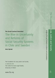 The Rise in Uncertainty and Reforms of Social Security Systems in ...