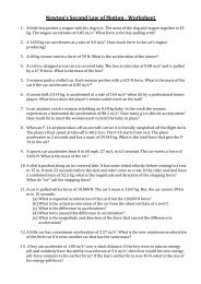 Rotational Equilibrium & Newton's 2nd Law worksheet