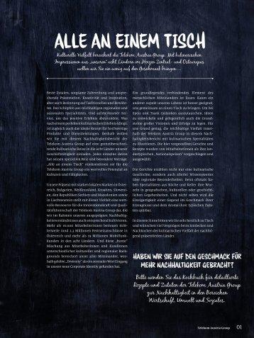 ALLE AN EINEM TISCH - Nachhaltigkeitsbericht. - Telekom Austria ...