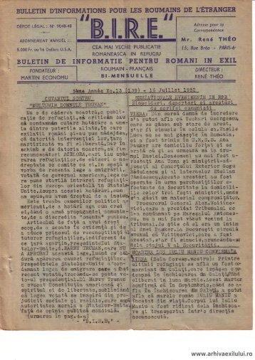 BIRE NR. 13(139) - arhivaexilului.ro