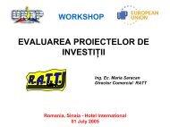evaluarea unui proiect de investitii - URTP
