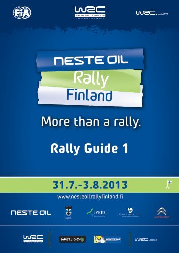 Complete Document with appendices - Neste Oil Rally Finland