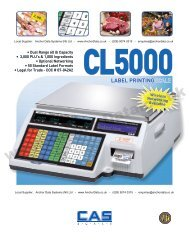 CAS CL-5000 Label Printing Weighing Scale Brochure