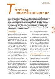 Tekniske og industrielle kulturminner